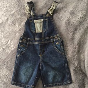 Other - Toddler boys denim overall shorts